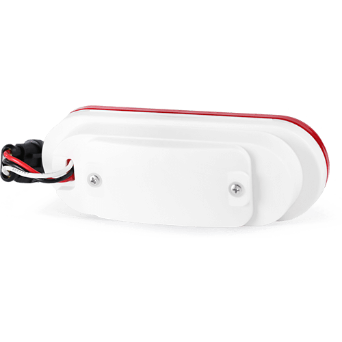 Oval red tail light gps tracker device