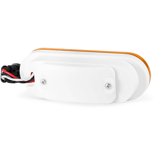 Oval amber tail light gps tracker device