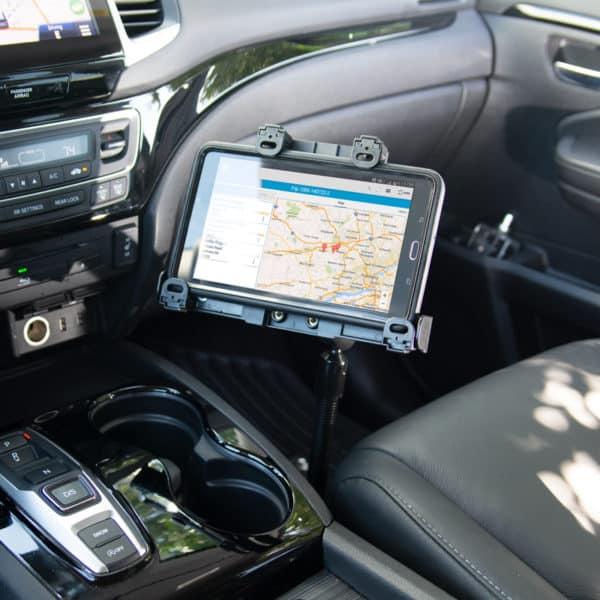 tablet mount locking