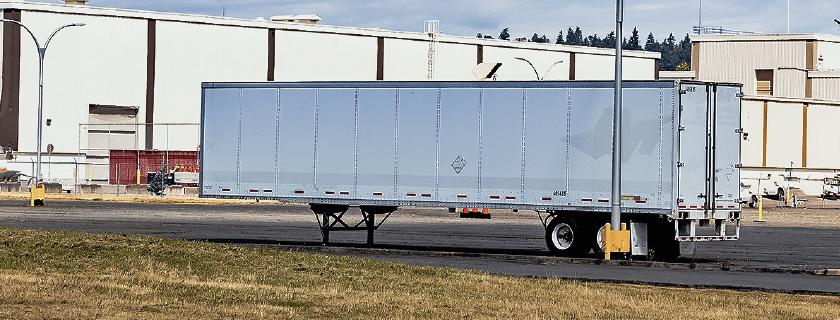 trailer in a yard